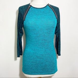 RUE 21 lightweight zip trim color block sweater M